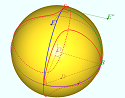 Locus on the surfase of the sphere