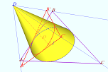 Projection to regular triangle